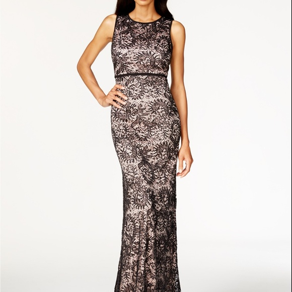 50003505733a Night Way Collections Dresses | Nightway Openback Sequined Lace Gown ...